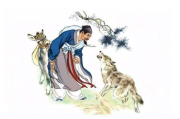 Chinese Idiom Story Dong Guo Xian Sheng Mr Dong Guo and The Wolf of Zhongshan